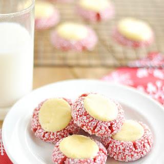 Red Velvet Cream Cheese Thumbprints
