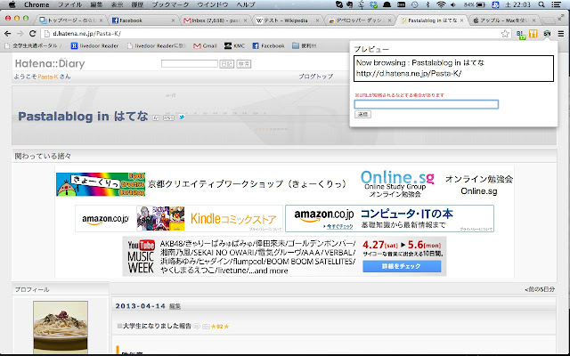Blowsing Now for Google Chrome™