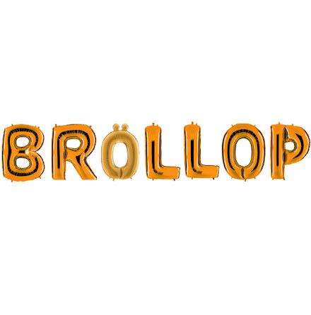 Folieballonger - BRÖLLOP, guld