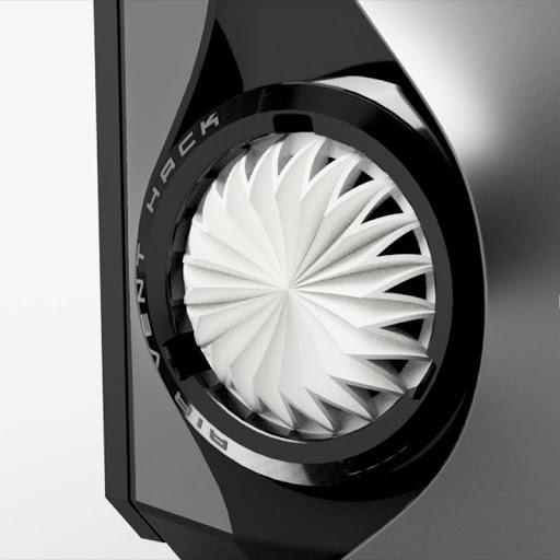 カスタムデザイン例 - 風車パターン