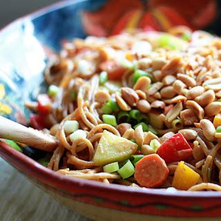 Veggie-Loaded Peanut Noodle Salad