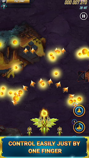 galaxy space shooter - space shooting (squadron) screenshot 1