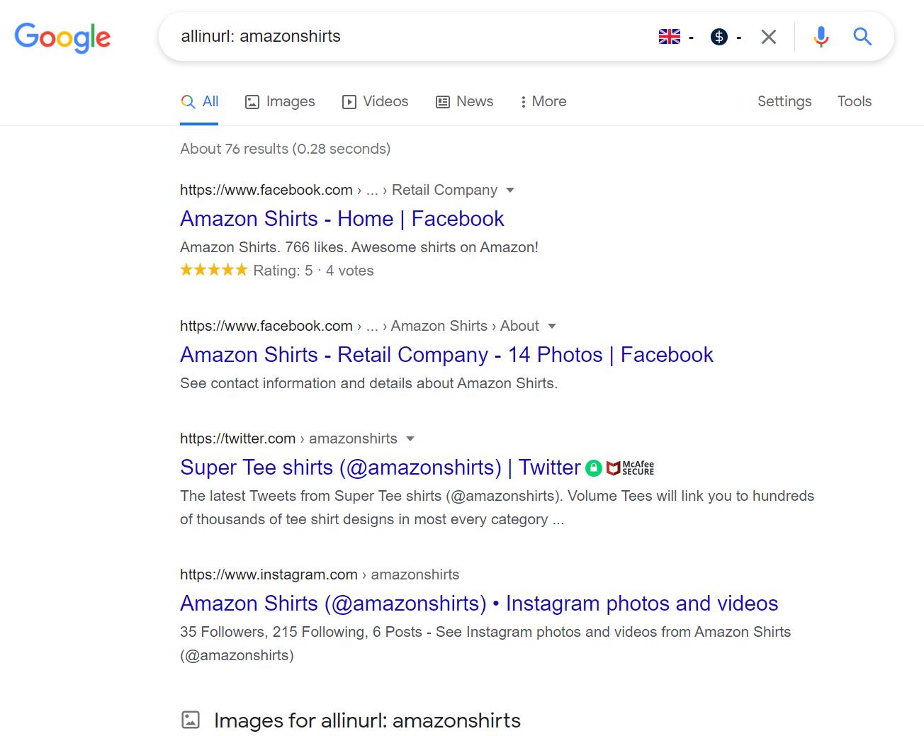 Allinurl search result