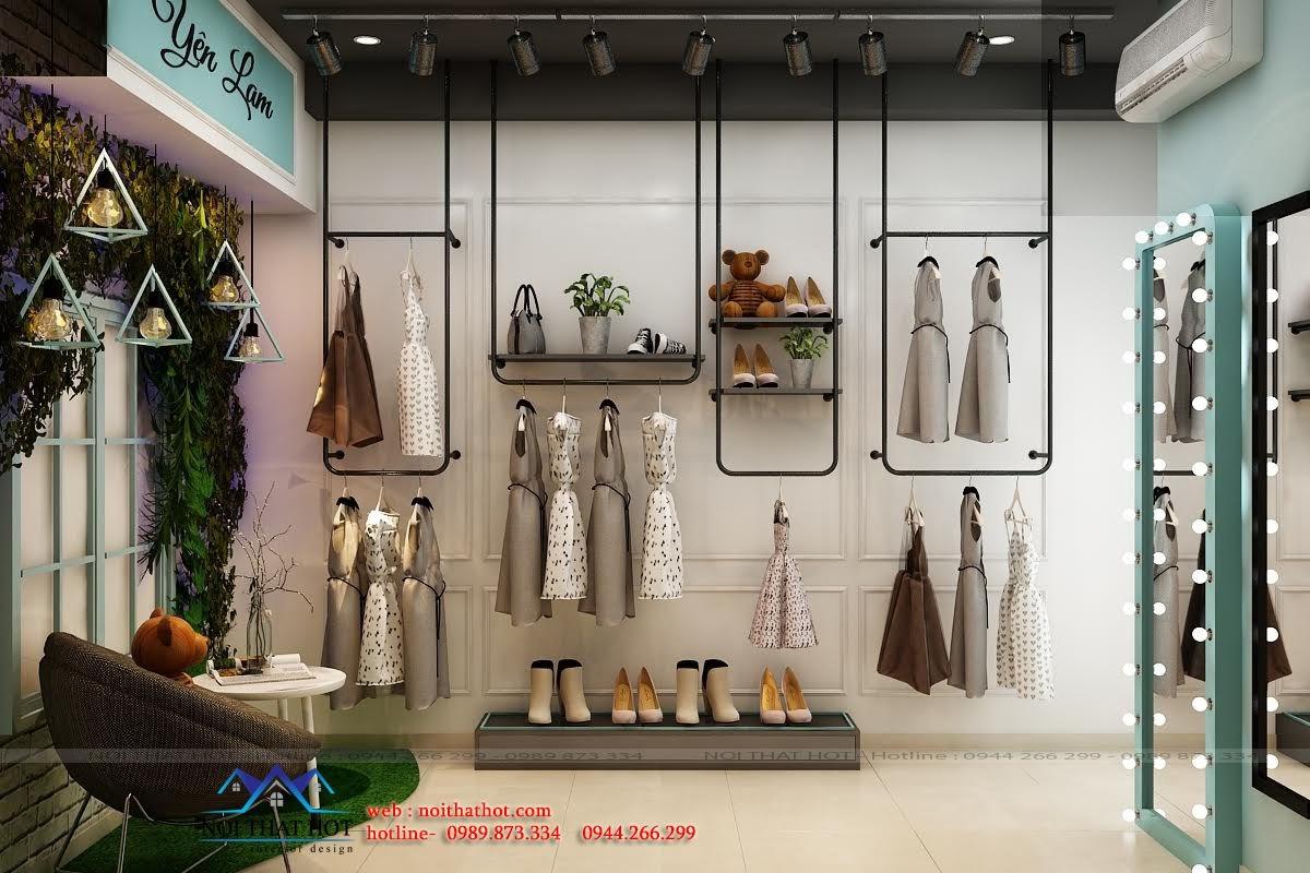 thiết kế shop thời trang nữ tính,m ấn tượng