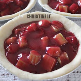 Rhubarb mixed with Cherry Pie Filling