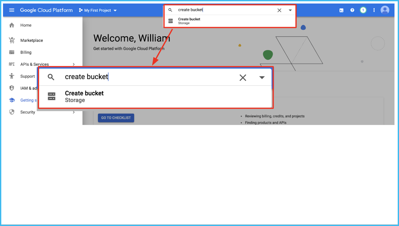 create bucket google cloud