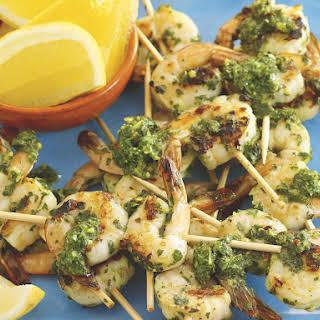 Chimichurri Shrimp Skewers.