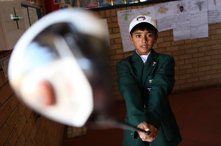 File Photo of Yurav Premlall tied for second at the US Kids Golf European Championships this month in Scotland.