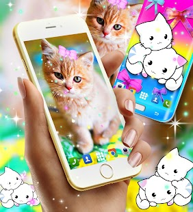 Cute kitty live wallpaper - náhled