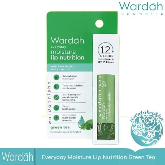 Moisture Lip Nutrition Green Tea WARDAH lipbalm lip balm lipnutrition melembabkan bibir nyaman mudah