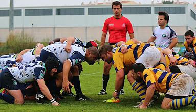 Photo: Jogo equilibrado mas com sabor amargo para o Groundlink Caldas (foto António Maltez)