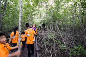 Photo: Taking care of each other while walking in the forest and exploring new worlds.