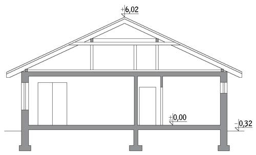 Dom bezpieczny - C296 - Przekrój
