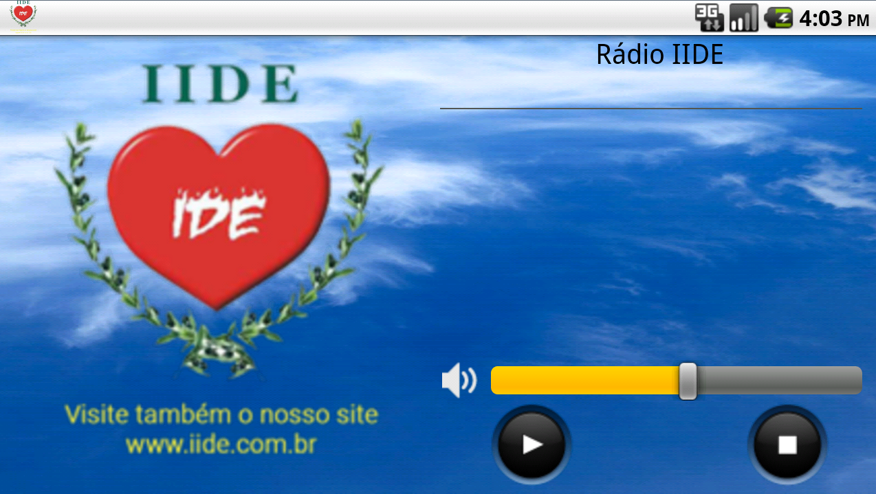 Rádio IIDE- screenshot