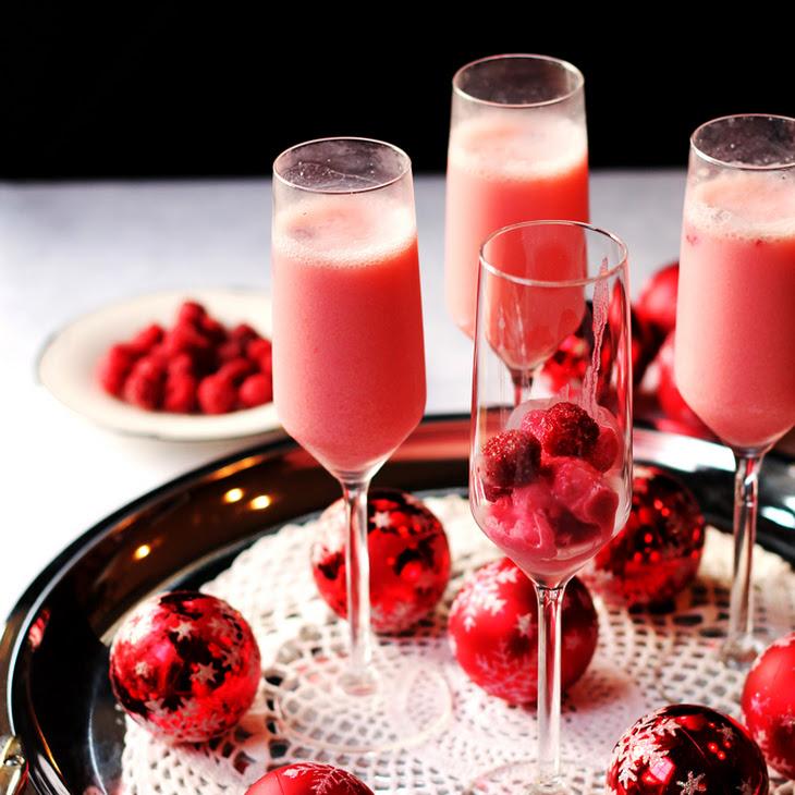 Raspberry Cream Mimosa Recipe