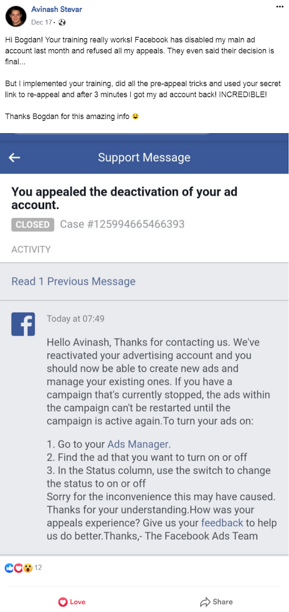 The Secrets My Affiliates And Partners Use To Get Their Disabled Fb Ad Accounts Reactivated In Record Time!