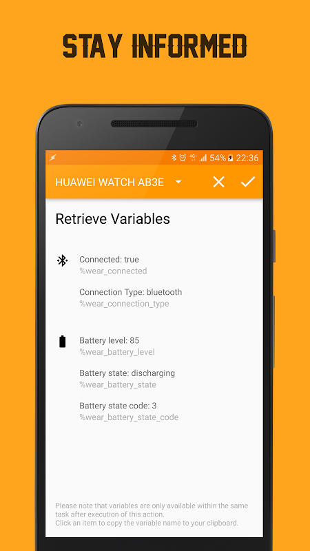 WearTasker - Tasker for Wear screenshots