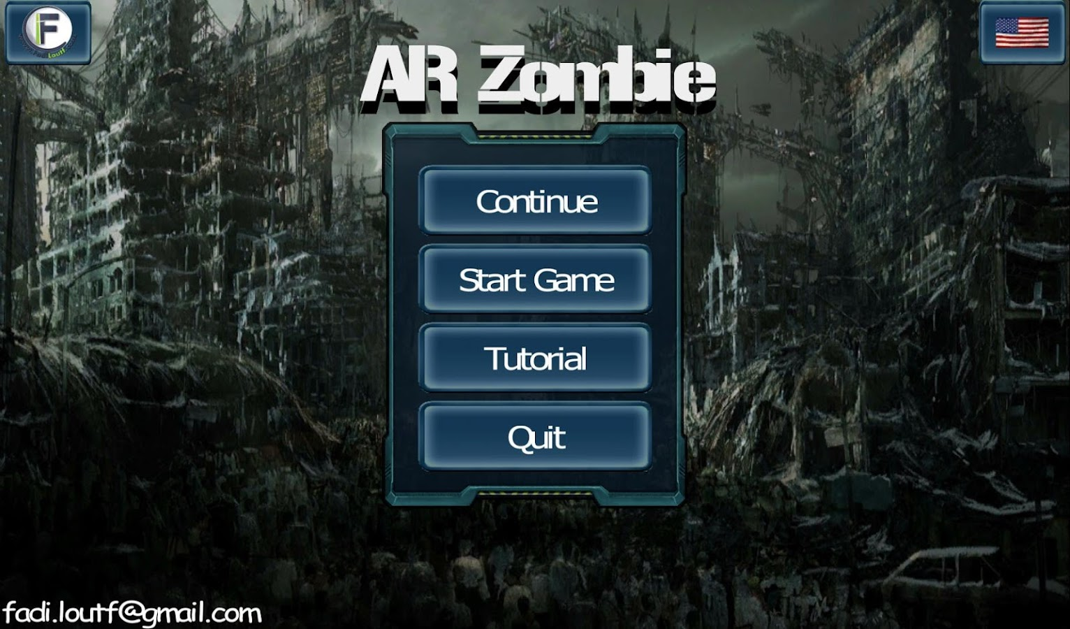 AR Zombie action shooter game- screenshot
