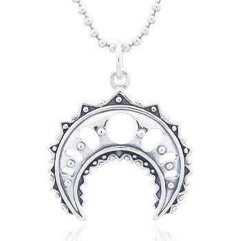 Silverhänge måne med filigran