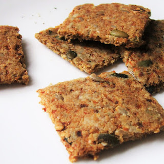 Herbed Carrot & Seed Crackers.
