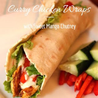 Curry Chicken Wraps with Sweet Mango Chutney Sauce Recipe