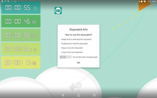 Floating Stopwatch, free multitasking timer 3.2.7 screenshots 10