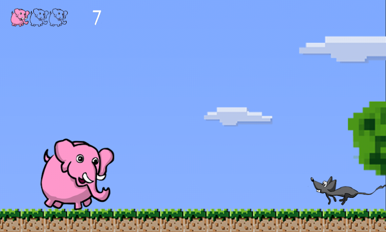Pink Elephant Game Screenshot