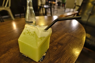 Photo: Malacca - juice in glass juice box