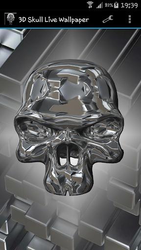 3D骷髅动态壁纸