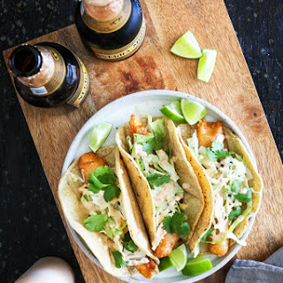 Crispy Fish Tacos with Chipotle Crema