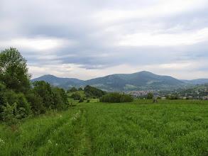 Photo: 09.Luboń Wielki (1022 m) i Szczebel (977 m) z okolic Wsołowej.