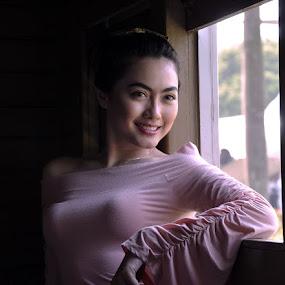 Smile Lady by Neni Wijaya - People Portraits of Women ( may, model, indonesia, train, tmii )
