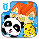 Baby Panda House Building Icon