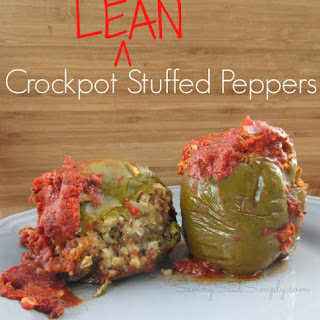 Easy Crockpot Lean Stuffed Peppers