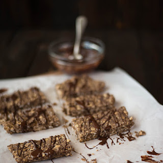 No-Bake Homemade Chocolate Peanut Butter Protein Bars.