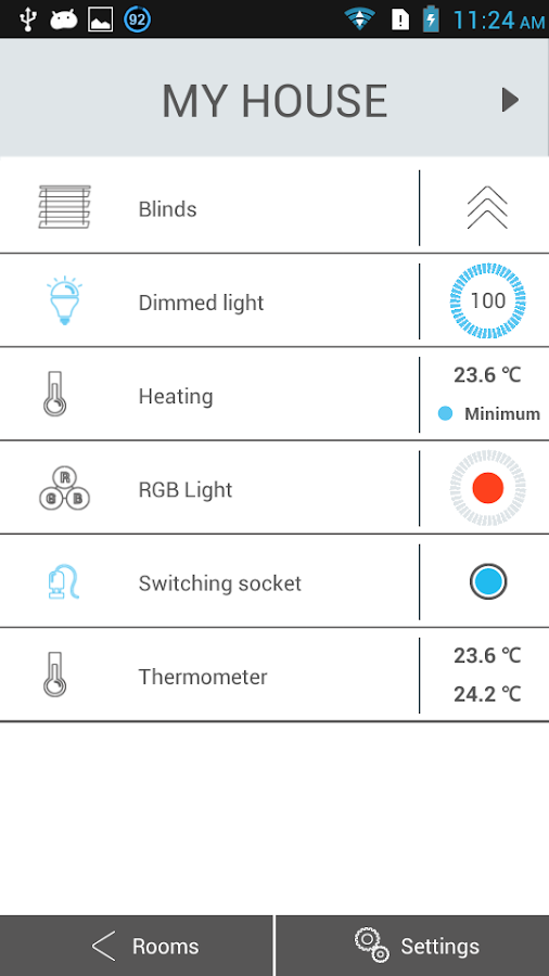 iNELS Home Control RF Mobile- screenshot
