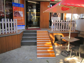 Photo: This ramp was installed outside CCD Camac Street, Kolkata, as a result of our World Disability Day Event in 2012.