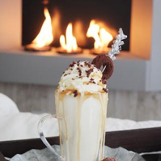 Caramel Bourbon Brownie Milkshakes