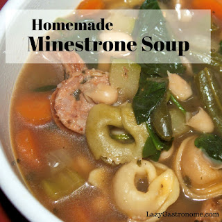Homemade Minestrone Soup.