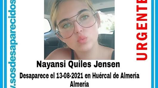 Localizan a la menor de 15 años desaparecida en Huércal de Almería