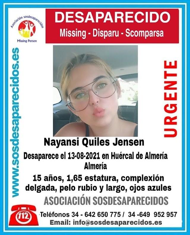 Imagen de la menor compartida por SOS Desaparecidos.