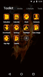 Skull Hell Fire 3D Theme? - náhled