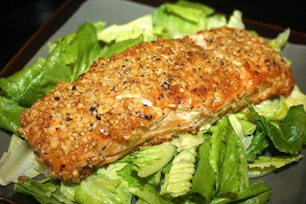 Pine Nut Crusted Pacific Salmon