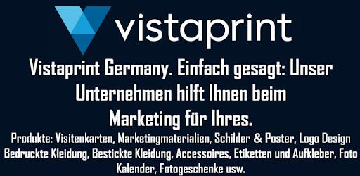Vistaprint Visitenkarten Flyer Einladung Mehr Apps