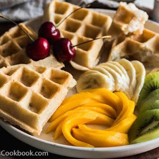 Coconut Waffles {Gluten-Free, Vegan} #SundaySupper
