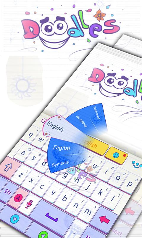 Doodles-GO-Keyboard-Theme 6