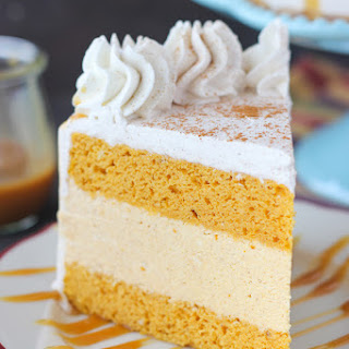Pumpkin Ice Cream Cake.