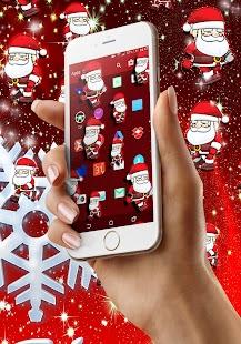 Christmas santa on screen - náhled
