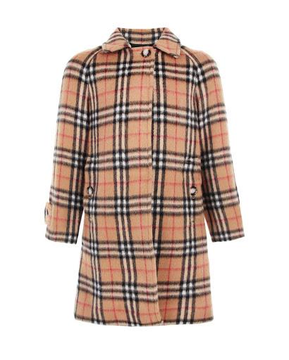 Купить Однобортное пальто в клетку Vintage Check детское Burberry TG6MINI HEPWORTH104027A2442