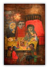 Photo: Antonio Berni La Navidad de Juanito Laguna 1960. 311 × 210,5 cm. Óleo sobre arpillera. Colección particular, Buenos Aires. Expo: Antonio Berni. Juanito y Ramona (MALBA 2014-2015)